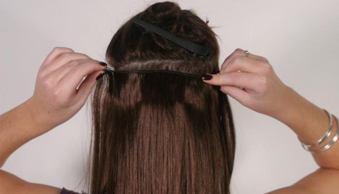 ленточное наращивание волос Flario