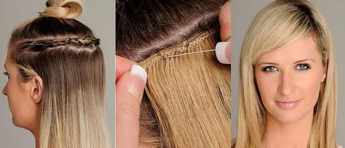 голливудское наращивание волос Flario