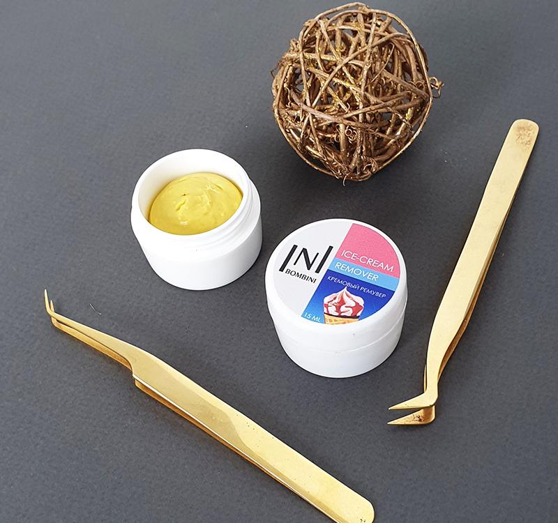 стартовый набор для наращивания ресниц кремовый ремувер