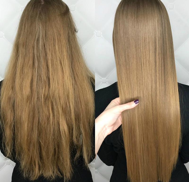 ботокс для волос делать результат на волосах