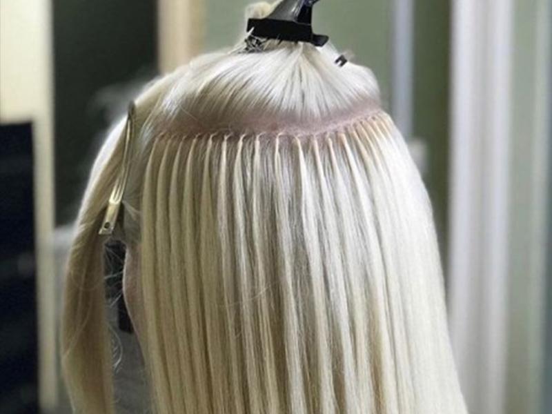 методы наращивания волос капсульное
