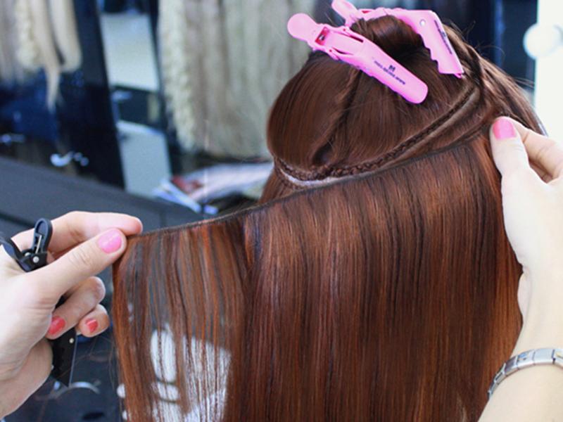 методы наращивания волос голливудское наращивание