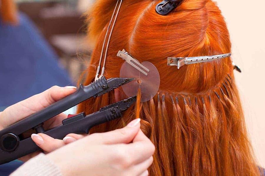 методы наращивания волос горячее капсульное